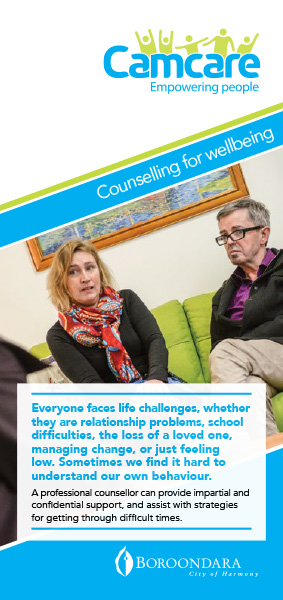 Camcare - Counselling For Wellbeing Brochure
