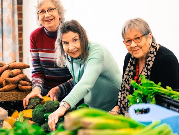 Camcare - Volunteers with Fresh Food