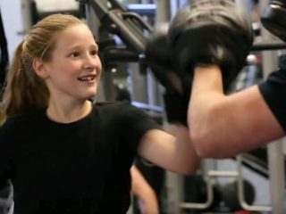 Emelia at YMCA after gold pass grant_opt